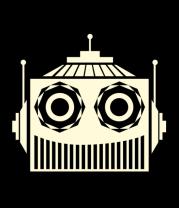 Толстовка без капюшона Голова робота (свет)