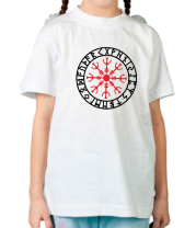 Детская футболка  Шлем ужаса (защитная руна)