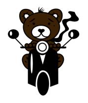 Женская майка борцовка Медведь на мотороллере