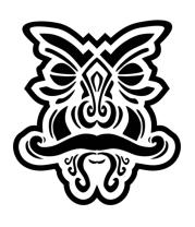 Женская футболка с длинным рукавом Колдовская маска
