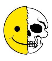 Детская футболка  Смайлик черепок