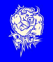 Женская футболка  Rage (ярость) (свет)