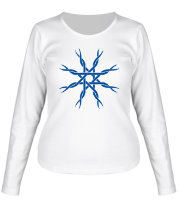 Женская футболка с длинным рукавом Звезда из лент