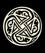 Мужская футболка  Крысы кельтский круг (свет)