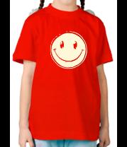 Детская футболка  Позитивный смайл (свет)