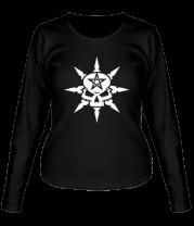 Женская футболка с длинным рукавом Звезда смерти