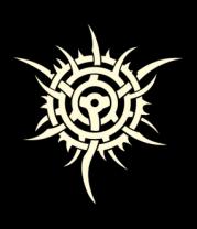 Мужская майка Узор шипованная звезда (свет)