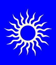 Детская футболка  Солнце узор (свет)