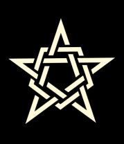Детская футболка  Звезда в стиле кельтских узоров (свет)