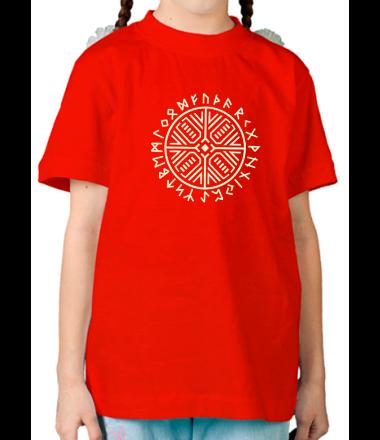 Детская футболка  Рунический круг (свет)