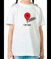 Детская футболка  I am here