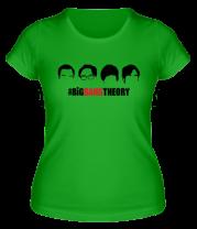Женская футболка  The Big Bang Theory (face)