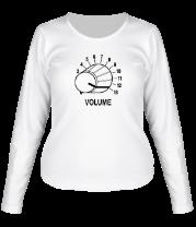 Женская футболка с длинным рукавом Volume - крутилка