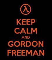 Толстовка без капюшона Keep calm and Gordon Freeman