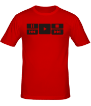 Мужская футболка  Play music