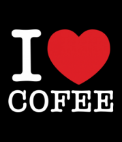 Толстовка без капюшона I love coffee