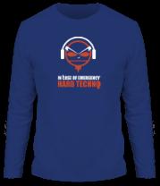 Мужская футболка с длинным рукавом Hard Techno