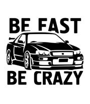 Женская майка борцовка Be fast be crazy