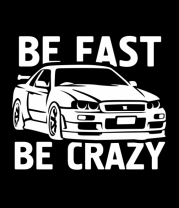 Женская майка борцовка Be fast be crazy