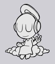 Толстовка Ангел в наушниках