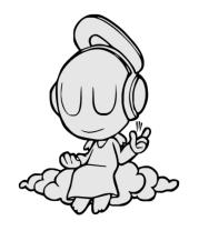 Кружка Ангел в наушниках