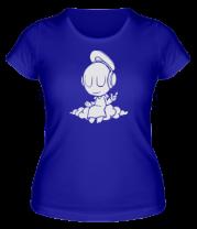 Женская футболка  Ангел в наушниках
