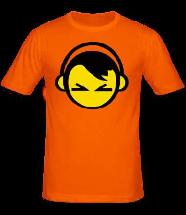 Мужская футболка  Смайл - парень в наушниках