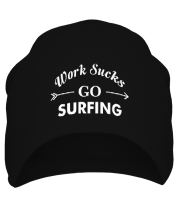 Шапка Work Sucks GO SURFING