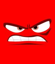 Мужская футболка  Anger face
