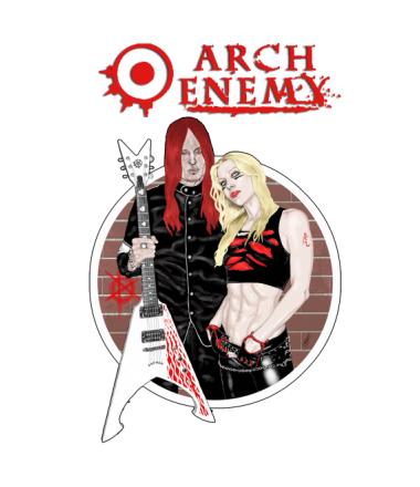 Толстовка без капюшона Arch Enemy. Michael and Angela.