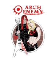Женская футболка с длинным рукавом Arch Enemy. Michael and Angela.