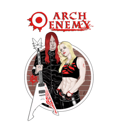 Женская футболка  Arch Enemy. Michael and Angela.