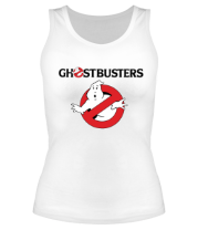 Женская майка борцовка Ghostbusters logo