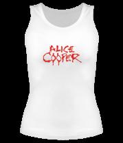 Женская майка борцовка Alice Cooper