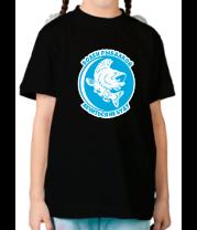 Детская футболка  Болен рыбалкой
