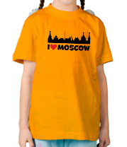 Детская футболка  Я люблю тебя, Москва