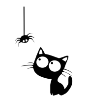 Мужская футболка  Кот и паучок