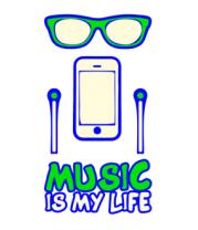 Детская футболка  Music is my life
