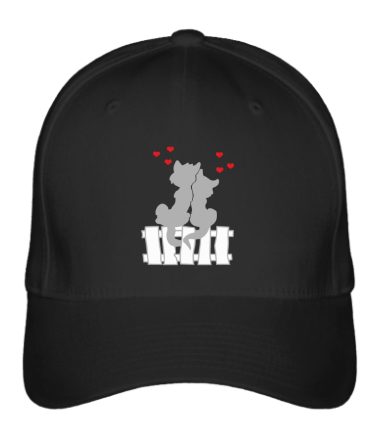 Бейсболка Влюбленные котики