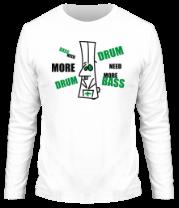 Мужская футболка с длинным рукавом Need more dnb