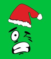 Женская футболка  Смайл в шапке Деда Мороза