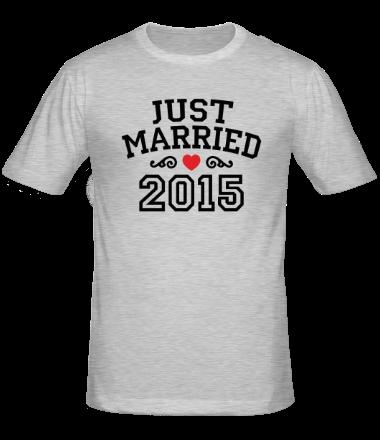 Мужская футболка  Just married 2015