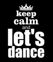 Детская футболка  Keep calm & let's dance