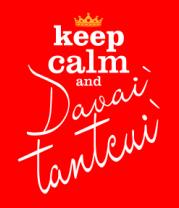 Детская футболка  Keep calm & davai` tantcui`