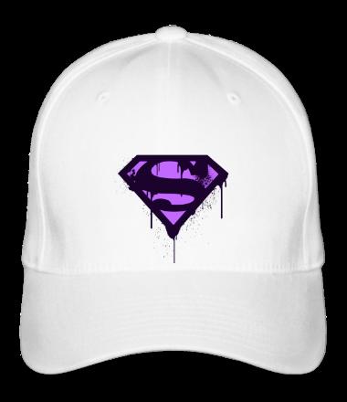 Бейсболка Superman Purple Splatter Logo
