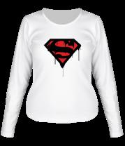 Женская футболка с длинным рукавом Blood Superman