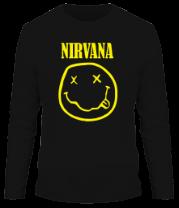 Мужская футболка с длинным рукавом Nirvana