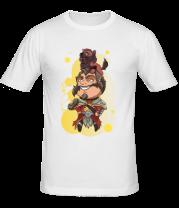 Мужская футболка  Lycanthrope with wolf