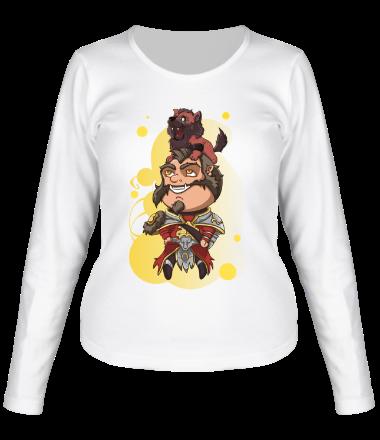 Женская футболка с длинным рукавом Lycanthrope with wolf