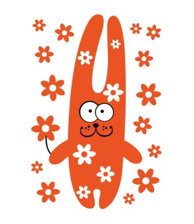 Мужская футболка  Зайка с цветочками
